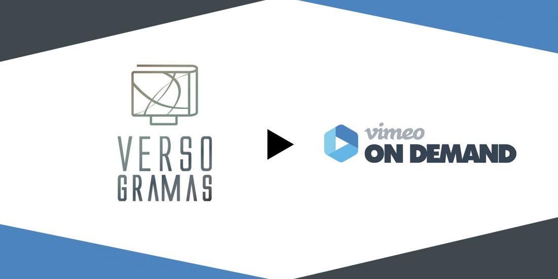 Versogramas, dispoñible en Vimeo On Demand