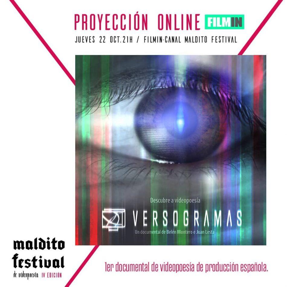 Versogramas en Maldito Festival de Videopoesía e FILMIN